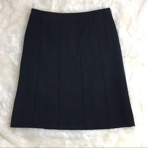 Escada wool blend textured black straight skirt 12